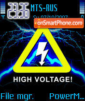 High Voltage Animated 01 es el tema de pantalla