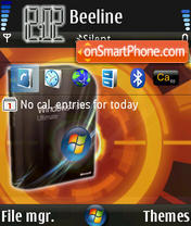 Vista Orange theme screenshot