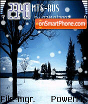 Animated Snowfall 01 es el tema de pantalla