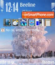 Winter Tree 01 theme screenshot