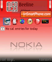 Nokia In Red theme screenshot