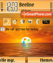 Скриншот темы Vista Sunset