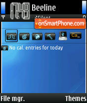 Dark Blue N80 Theme-Screenshot