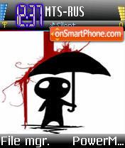 Bloody Rain es el tema de pantalla