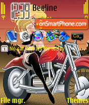 Bike Girl theme screenshot