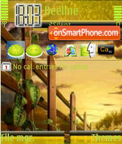 Sunset Green tema screenshot