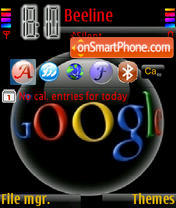 Google theme screenshot