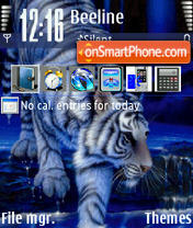 White Tiger 01 theme screenshot