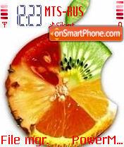 Скриншот темы Fruit 01
