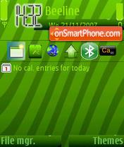 Green Art theme screenshot