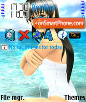 Anime Girl 01 theme screenshot