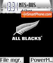 All Blacks theme screenshot