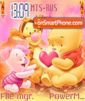 Pooh And Friends Animated theme screenshot