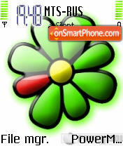 ICQ Symbian 8.1 theme screenshot