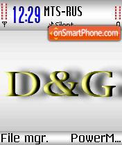 D&G Serebro es el tema de pantalla
