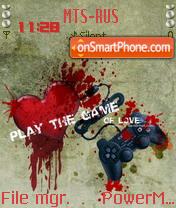 Play The Game of Love theme screenshot