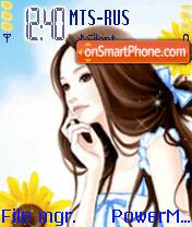 Animated Pretty Girl es el tema de pantalla