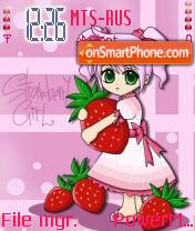 Strawberry Girl es el tema de pantalla