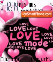 Love Animated es el tema de pantalla