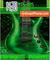 Green Guitar tema screenshot