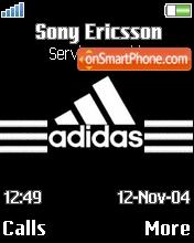 Adidas Performance tema screenshot