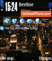 Скриншот темы Night City 01