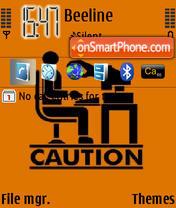 Caution es el tema de pantalla