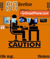 Caution theme screenshot