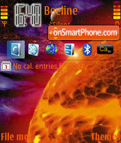 Orange Planet theme screenshot