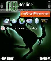 Скриншот темы Black Ferrari