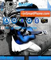 Blue Guitar theme screenshot