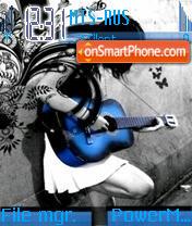 Blue Guitar Update es el tema de pantalla
