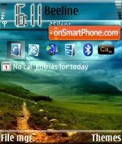 Скриншот темы Green Sky