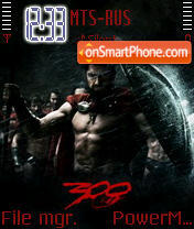 300 Spartans theme screenshot