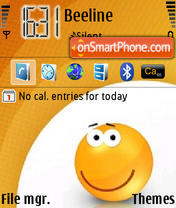Orange Smile theme screenshot