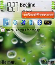 Heart Rain Drop theme screenshot