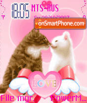 Animated Love Cats es el tema de pantalla