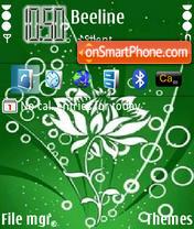 Скриншот темы Green Lamour 01