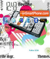 Nokia 3250 Fan theme screenshot
