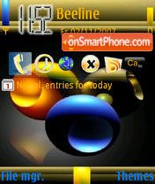Three Ball theme screenshot