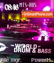 World Of Dnb es el tema de pantalla