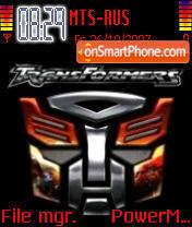Transformers 07 theme screenshot