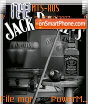 Animated Jack Daniels theme screenshot