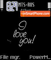 Black I Love U Animated es el tema de pantalla