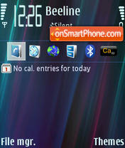 Скриншот темы Aurora Lines