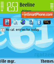 Скриншот темы Skype v1.01 E61