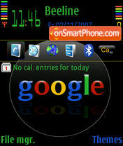 Black Google V2 default theme screenshot