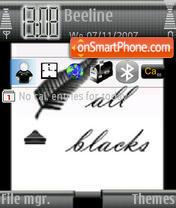 All Black theme screenshot