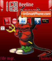 Red Devil For Woman theme screenshot