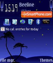 Blu Night Default es el tema de pantalla